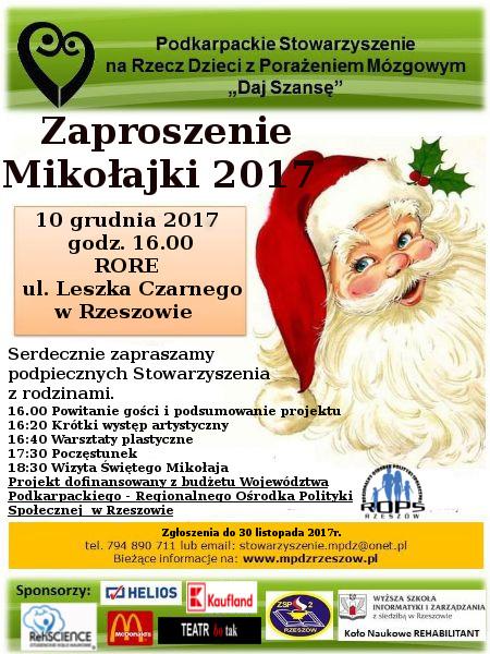 Zaproszenie Mikołajki